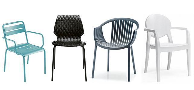 Sillas y sillones de bar en pl stico para terrazas de hosteler a sillas de bar bar sillas - Sillas de plastico para terraza ...