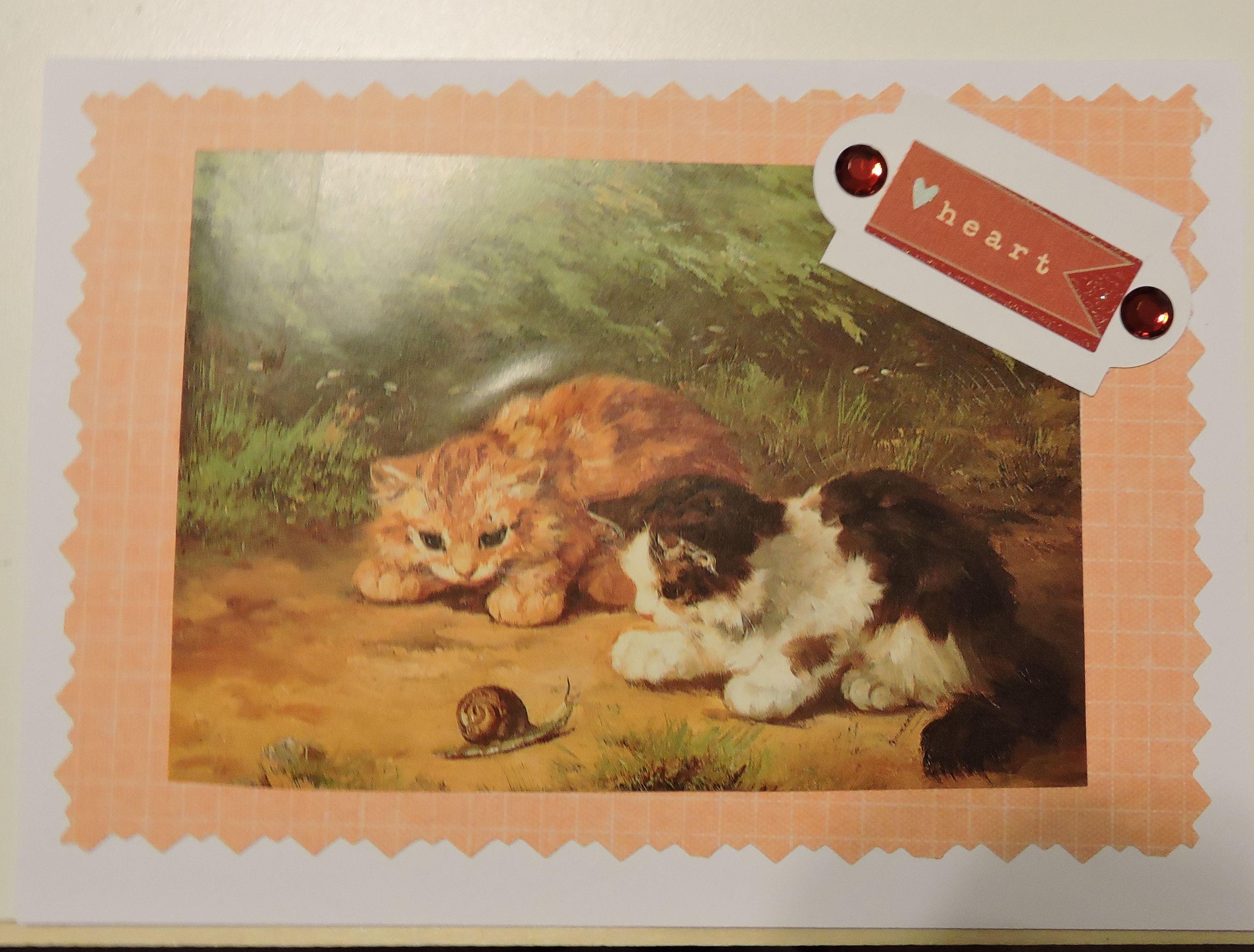 Birthday Card: re-purposed postcard