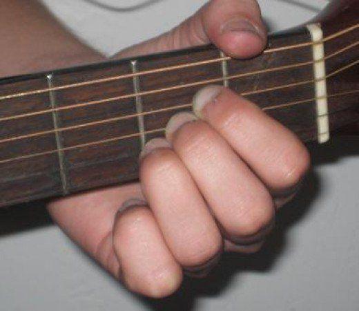 A Chord Fingering On Guitar Guitar Chord Chart Pinterest