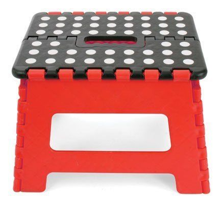Fabulous Home It Folding Childeren Step Stool 11 In Red Black Creativecarmelina Interior Chair Design Creativecarmelinacom