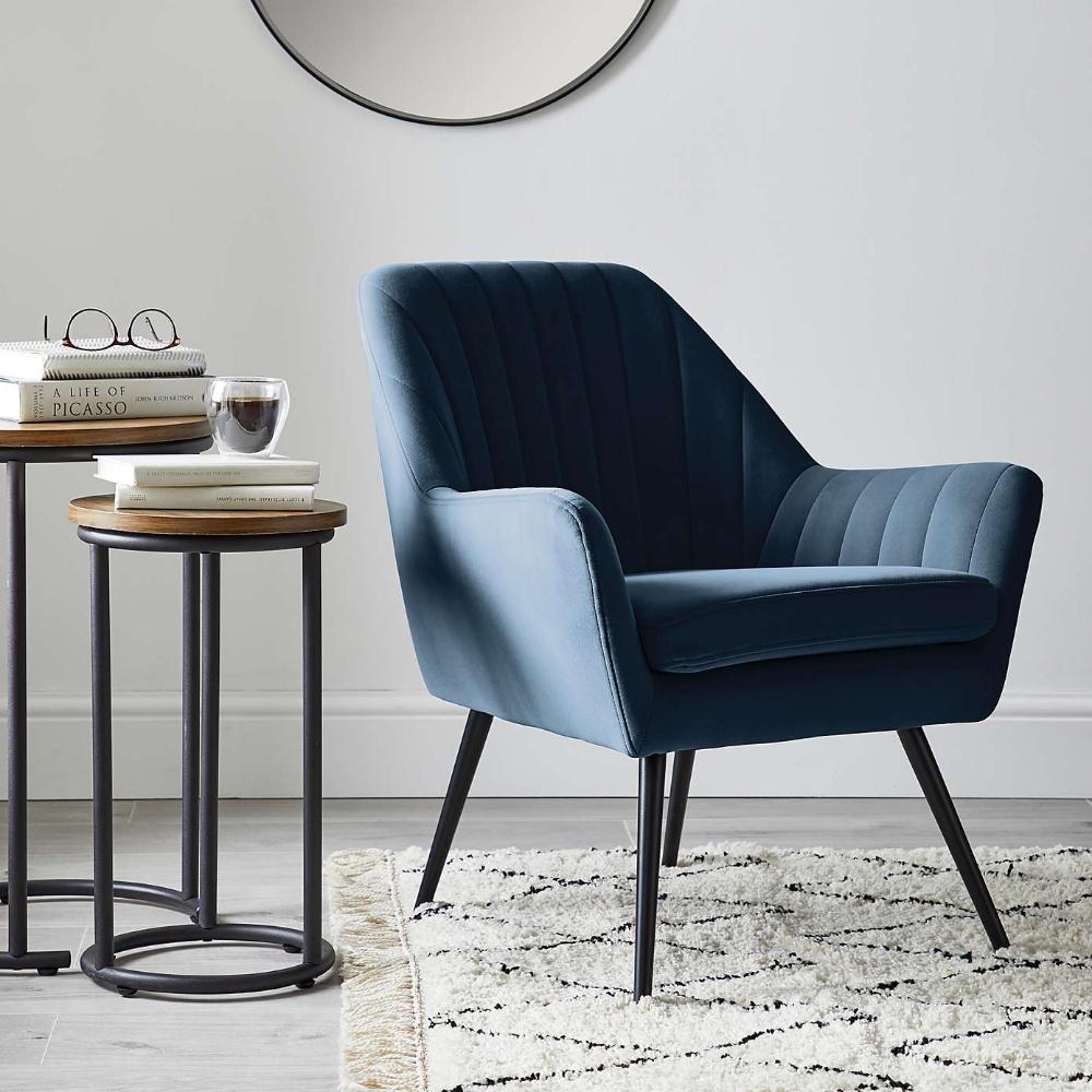 Surprising Logan Chair Blue In 2019 Chair Velvet Furniture Sofa Machost Co Dining Chair Design Ideas Machostcouk