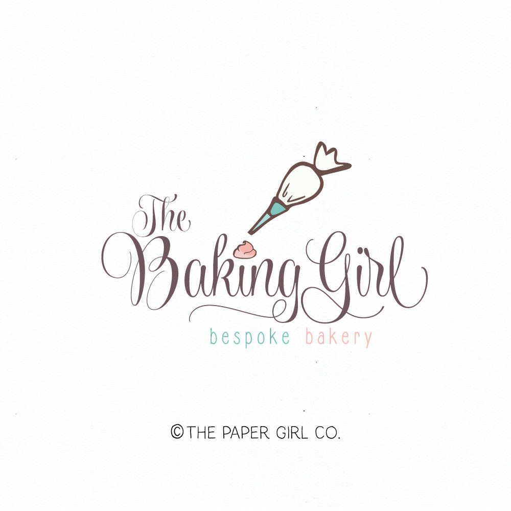 piping bag logo baking logo bakery logo premade logo cake