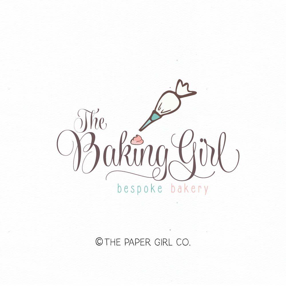 piping bag logo baking logo bakery logo premade logo cake
