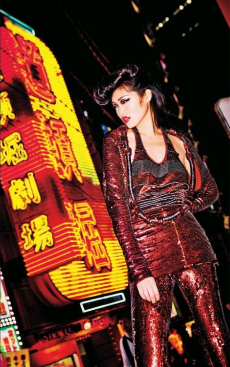 """""""Tokyo Neon Girls"""" by Ellen von Unwerth for Vogue Japan July 2014"""