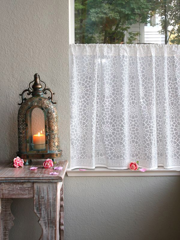 White Kitchen Curtains Moroccan Kitchen Curtains Lattice Trellis Extraordinary White Kitchen Curtains Decorating Inspiration