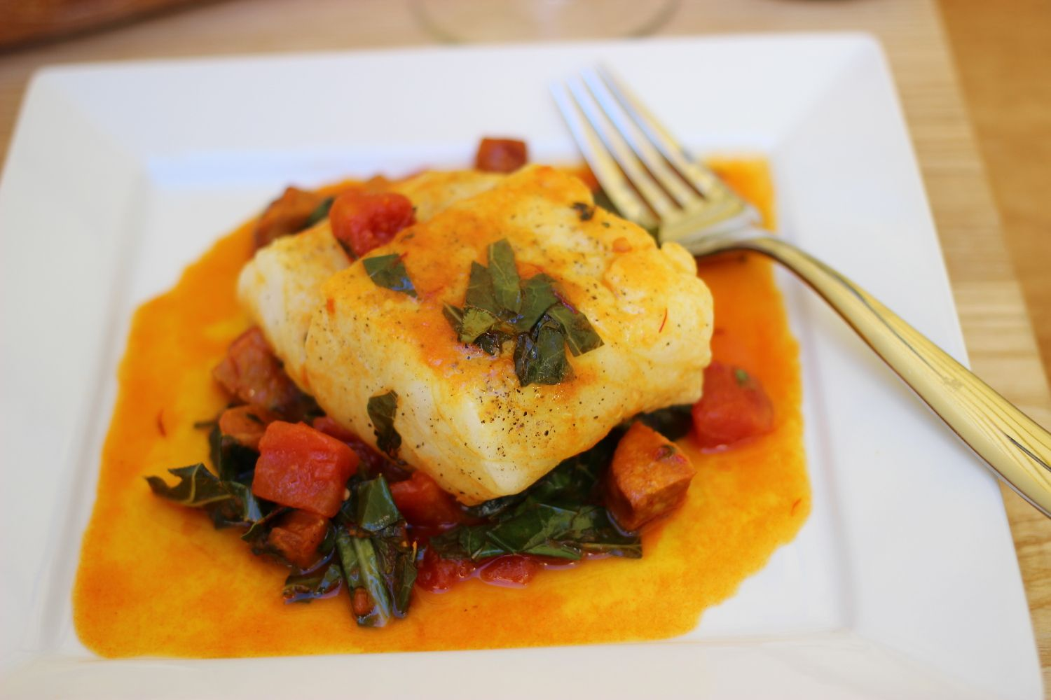 This sear-braised Spanish cod is about as fancy as I get at home. And it's quick and easy, which what makes this hybrid stovetop technique a winner...