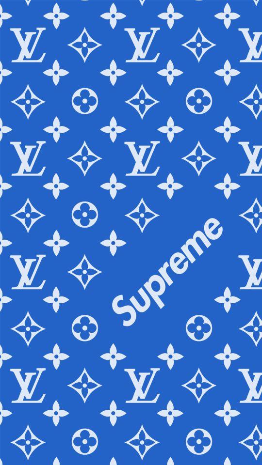 Supreme X Louis Vuitton Blue Edtion Supreme Wallpaper Supreme Iphone Wallpaper Louis Vuitton Iphone Wallpaper