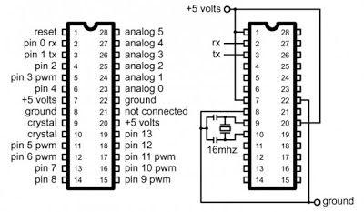 At Mega 328 Arduino Pinout Circuit Diagram Rangkaian Elektronik Elektronik Teknologi