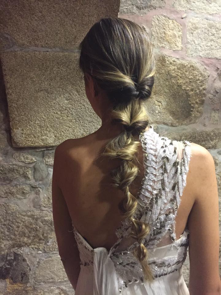 Peinados recogidos trenza espiga