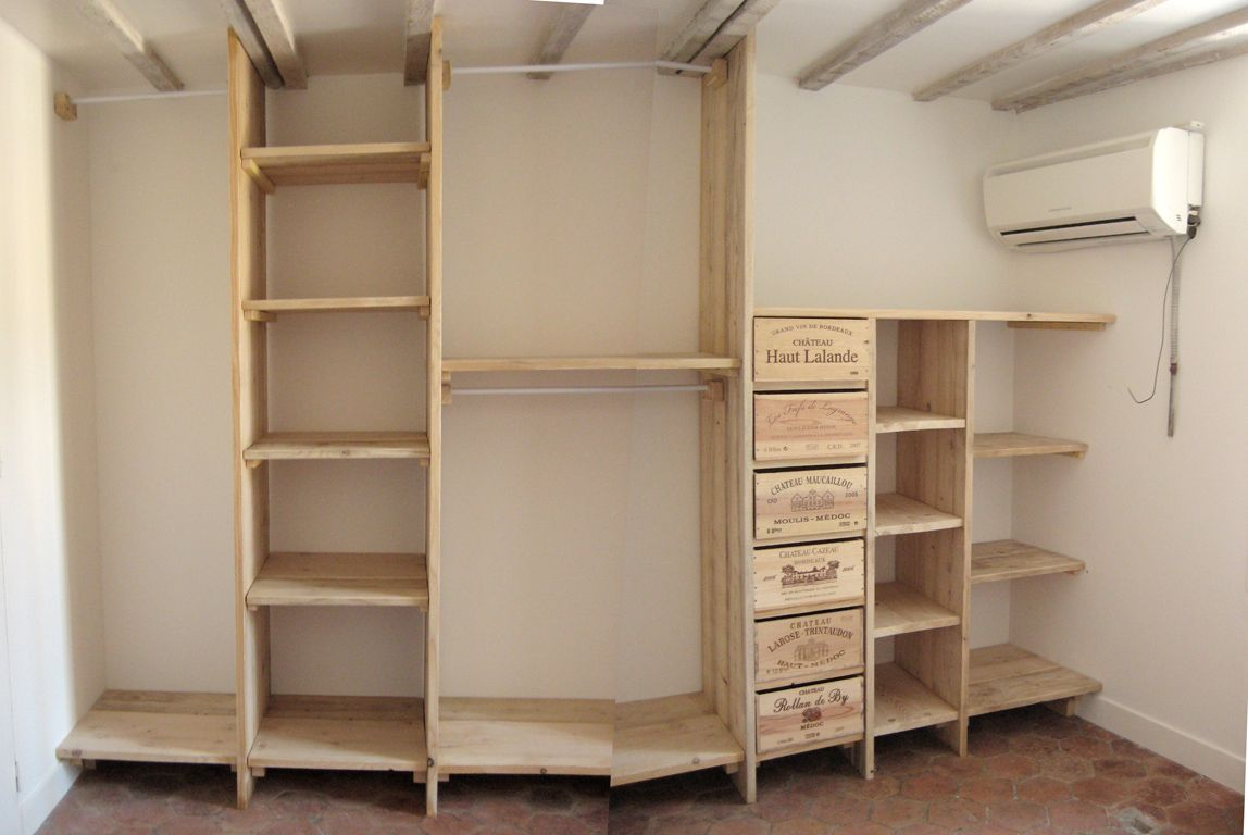 3 etag res dressing en bois de pin bois paille et autres productions dressing en 2019 - Penderie fait maison ...