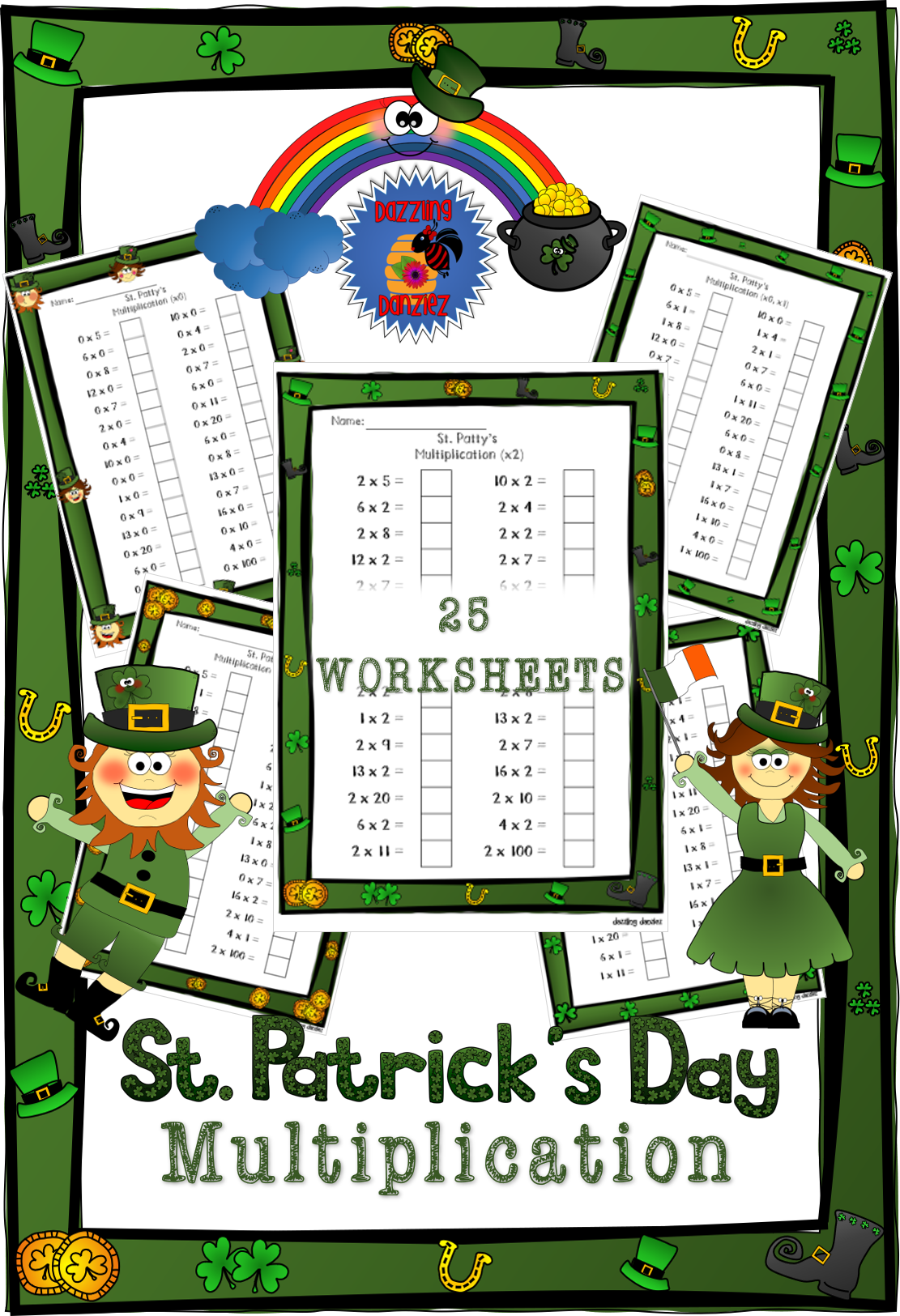 St Patty S Multiplication In