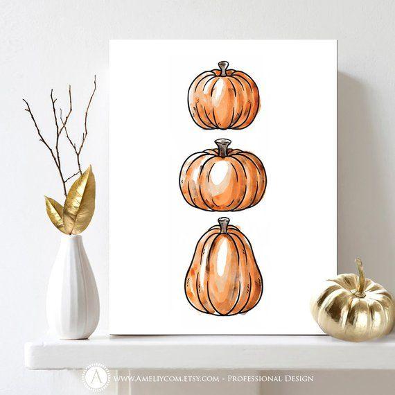 Pumpkin Decor, Pumpkin Sign, Pumpkin Print, Pumpkin Art, Pumpkin