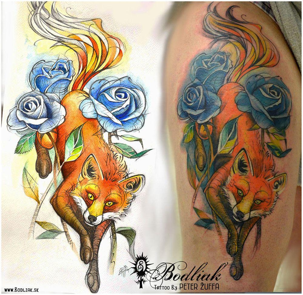 Peter Žuffa 2014 #art #tat #tattoo #tattoos #tetovanie #original #tattooart #slovakia #zilina #bodliak #bodliaktattoo #bodliak_tattoo #fox_tattoo #nature_tattoo