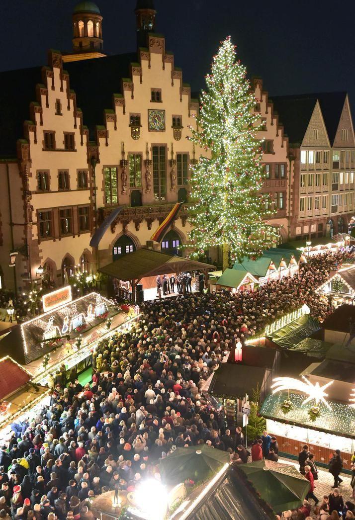 Frankfurter Weihnachtsmarkt.Weihnachtsmarkt Auf Dem Römerberg Frankfurter Weihnachtsmarkt Ist