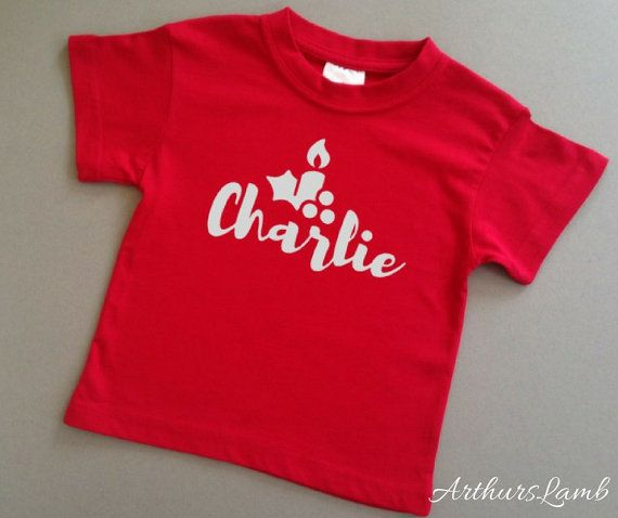 MY 1ST CHRISTMAS PERSONALISED BABY TODDLER T SHIRT KIDS FUNNY GIFT CUTE