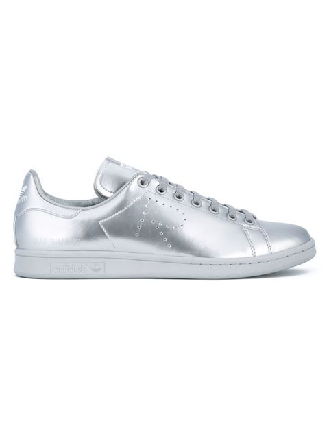 Shop Adidas By Raf Simons metallic 'Stan Smith' trainers in