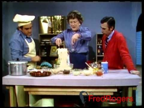 Julia Child Visits Mister Rogers Neighborhood Mister Rogers Neighborhood Mr Rogers Julia Child