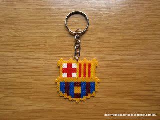a1e6177052570 Llavero Barca perler beads