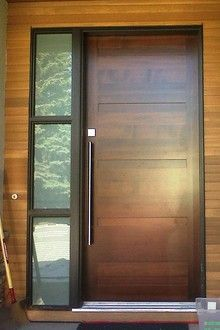 Modern wood front doors google search pinteres for Modern wooden main door design