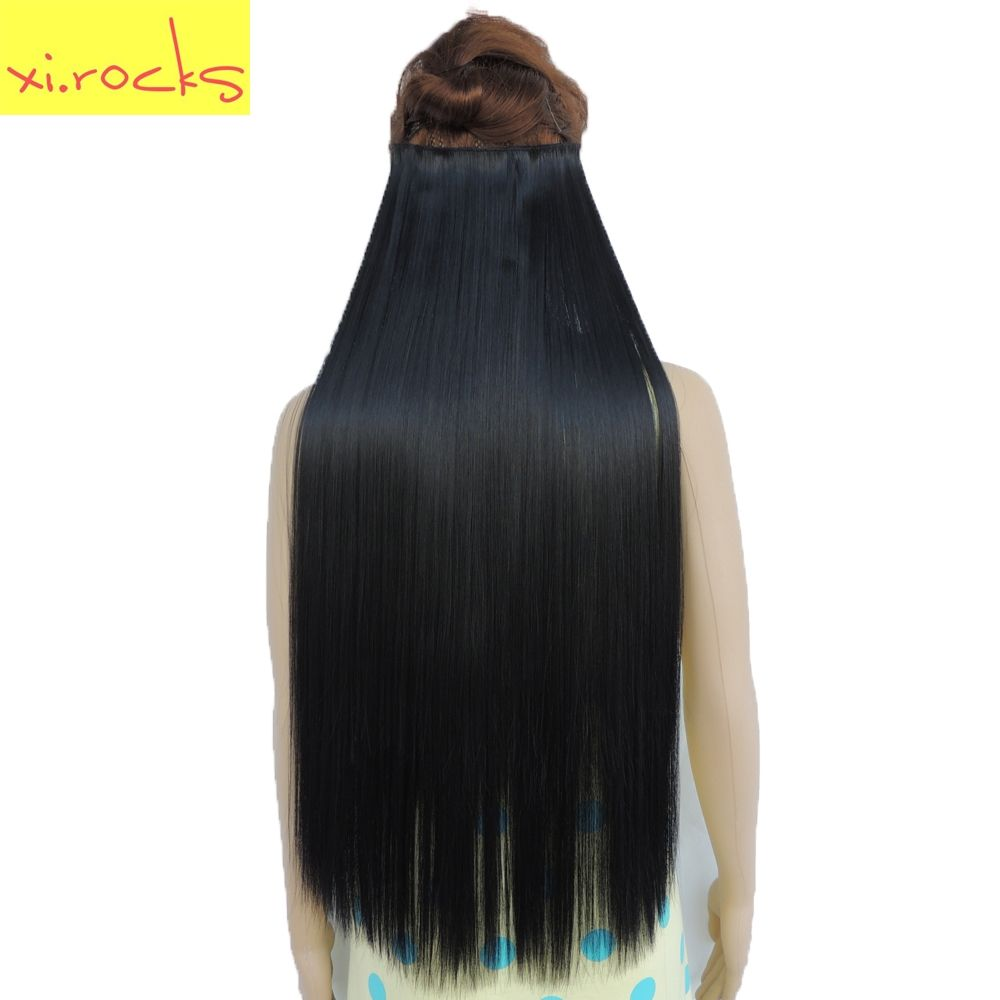 2 Piece Xicks 5 Clip In Hair Extensions 70cm Synthetic Clips For