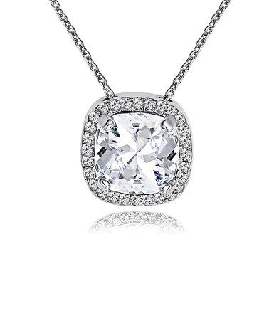 MESTIGE Silver Cushion Cut Necklace Made With SWAROVSKI ELEMENTS by MESTIGE #zulily #zulilyfinds