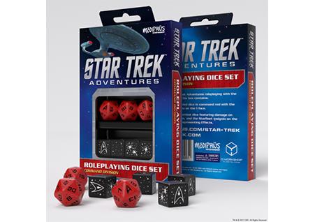 Command Red Custom Dice Star Trek Adventures Accessories