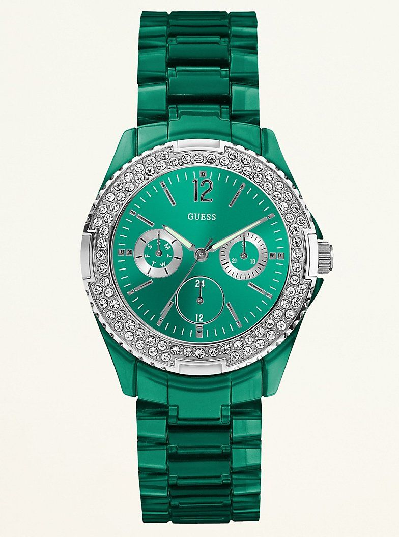Green Guess watch is beautiful if I had enough money I would have a watch  for each outfit 7c3610bed5