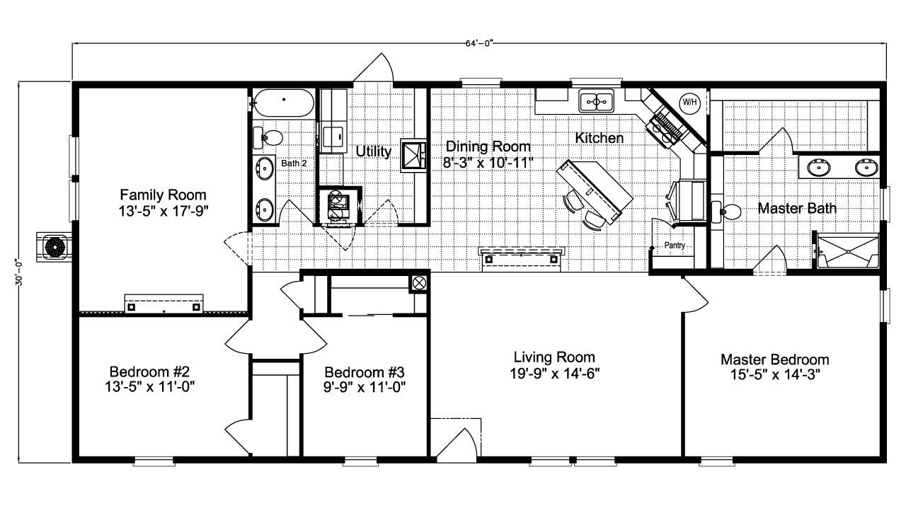 Floor Plan Barbados T3646t Floor Plans Manufactured Homes Floor Plans Modular Floor Plans