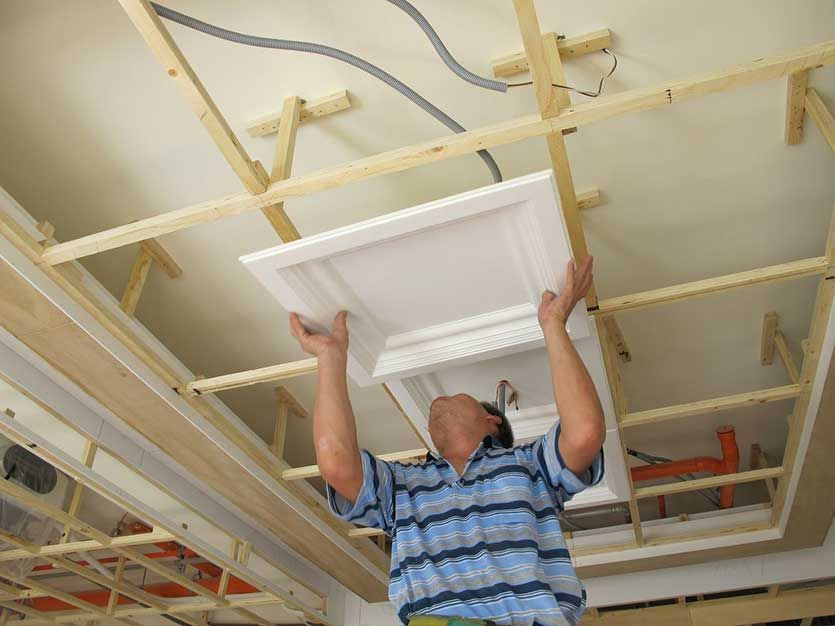 To Install A 3 5 Grid Ceiling Frame For Example To Prepare 15 Ceiling Tile Products Wr 8100 Is Ex Interior Ceiling Design Home Ceiling Moldings And Trim