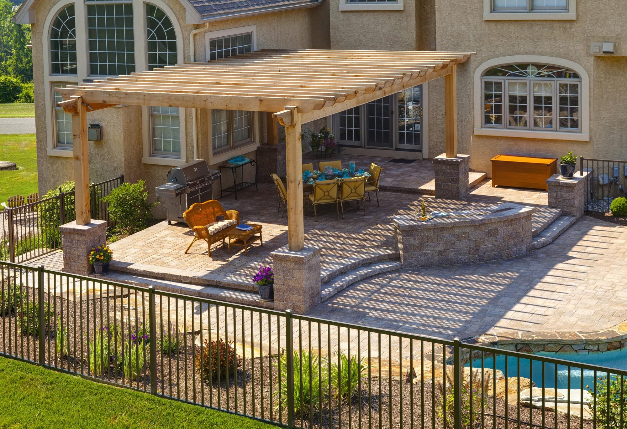 Beautiful backyard pergola crafted and designed by our ... on Disabatino Outdoor Living id=27789