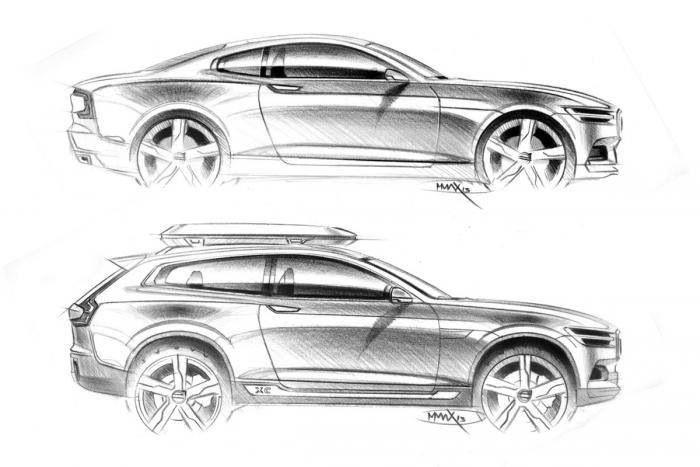 Volvo Concept XC Coupé in pictures   Auto skizze, Skizzen und Autos