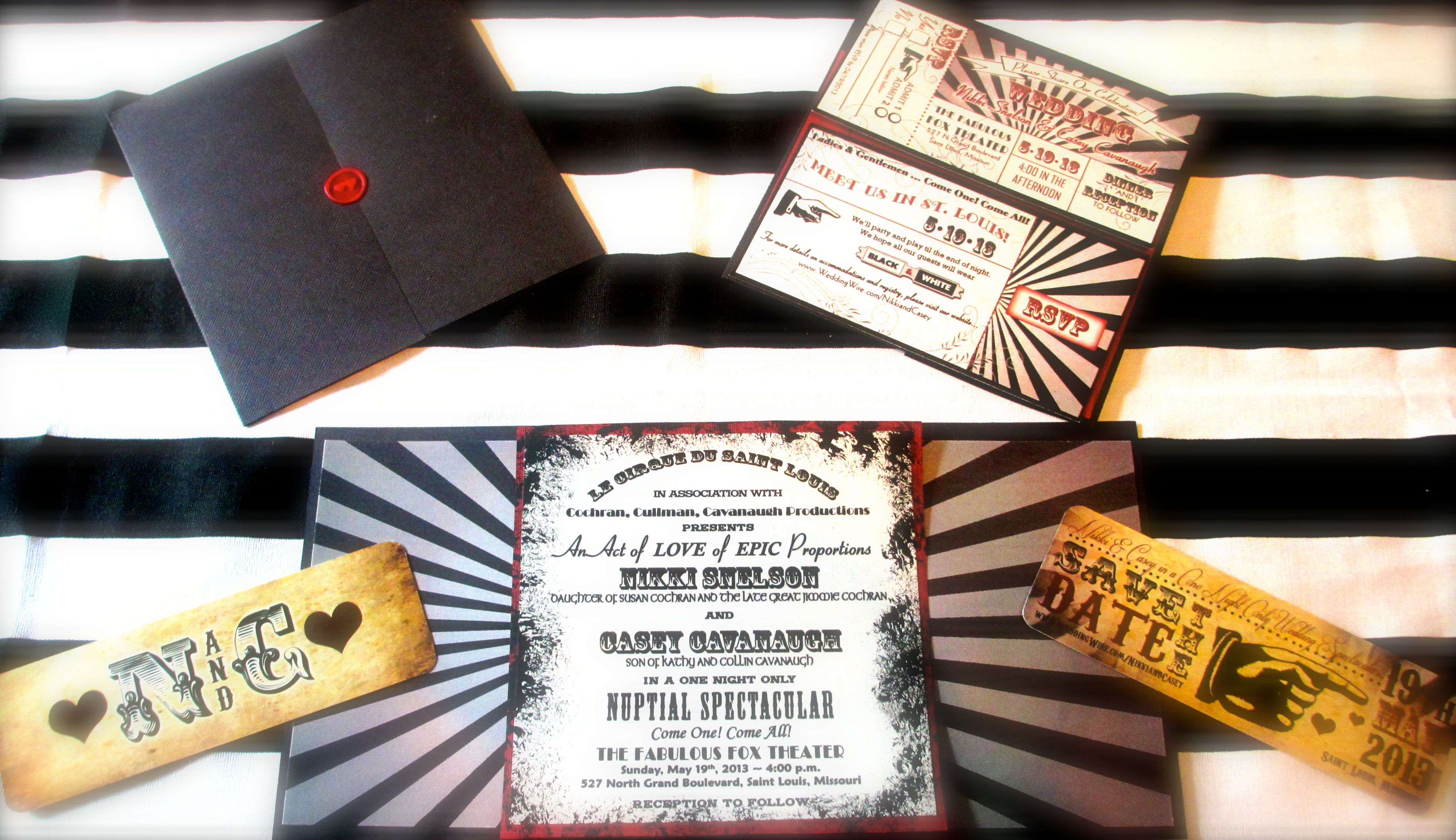 Circus Wedding Invites and Save the Dates