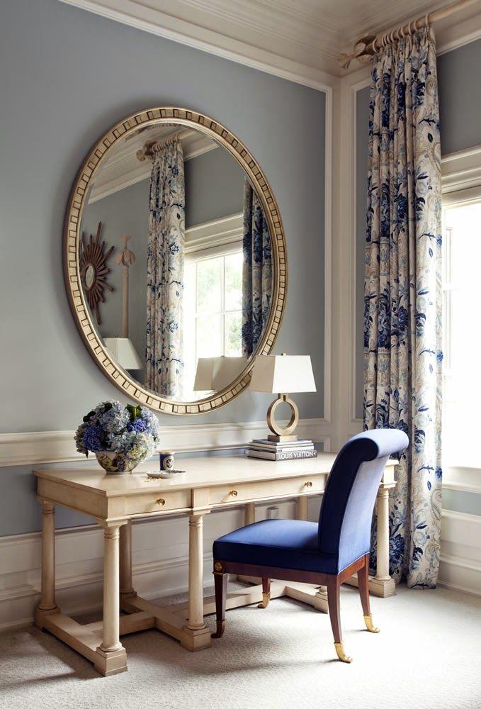Decoraci n cl sica y elegante en blanco y azul click para for Ver decoracion de interiores