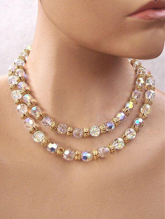 Vintage Bergere Signed Crystal Necklace di secondlookjewelry, $95.00