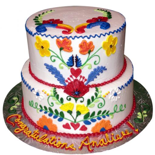 2 Layer Spanish Inspired Cake