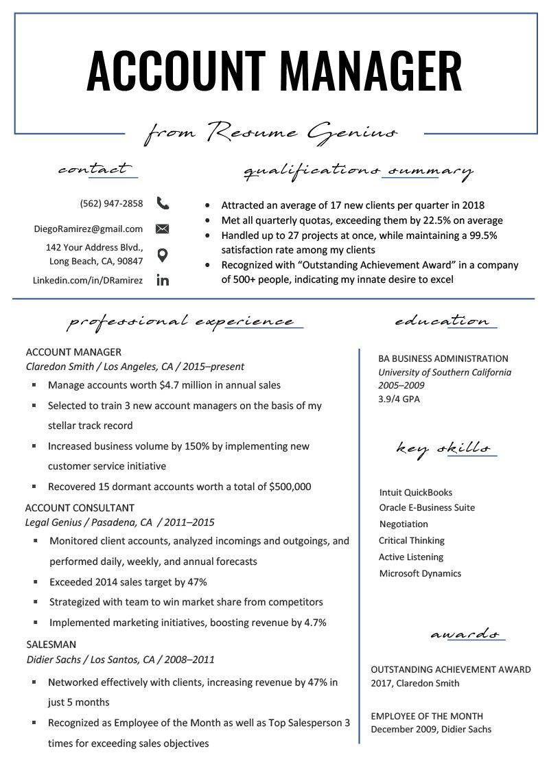 What Kind Of Paper Should I Print My Resume On New Account Manager
