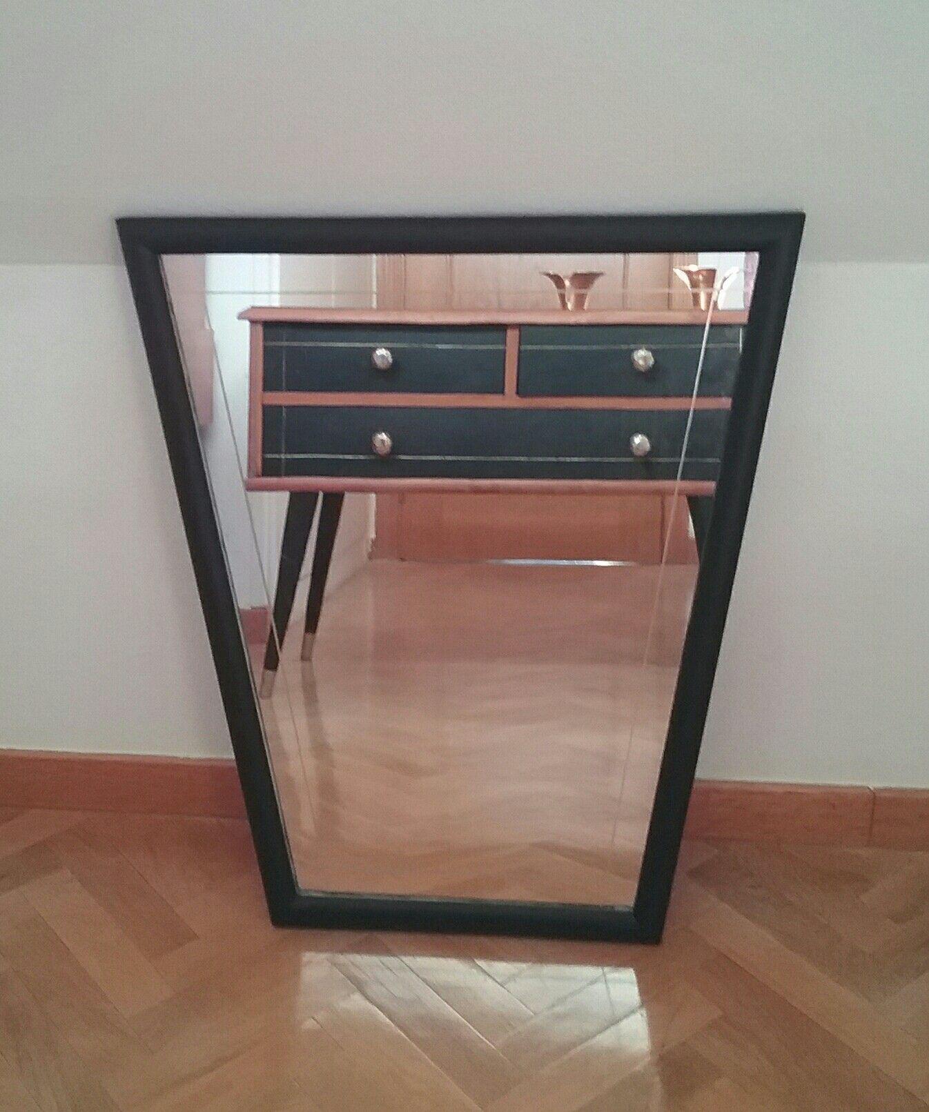 Espejo Vintage Espa A Circa A Os 50 Color Negro Style Vintage Deco  # Muebles Mocholi