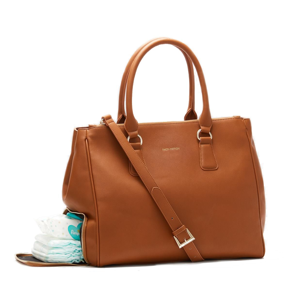 582f35113 Fact + Fiction Sophia Tote Tan, £135. The ultimate stylish, functional baby  bag. 10% off on the site now when you sign up to the newsletter #babybag ...