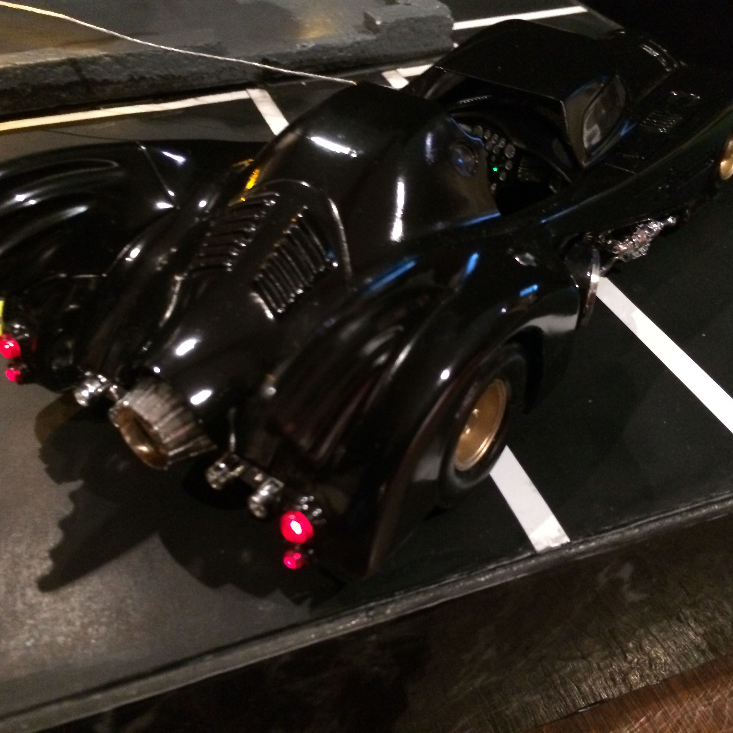 Tail Light View of the 1989 Batmobile by Martin's Models.