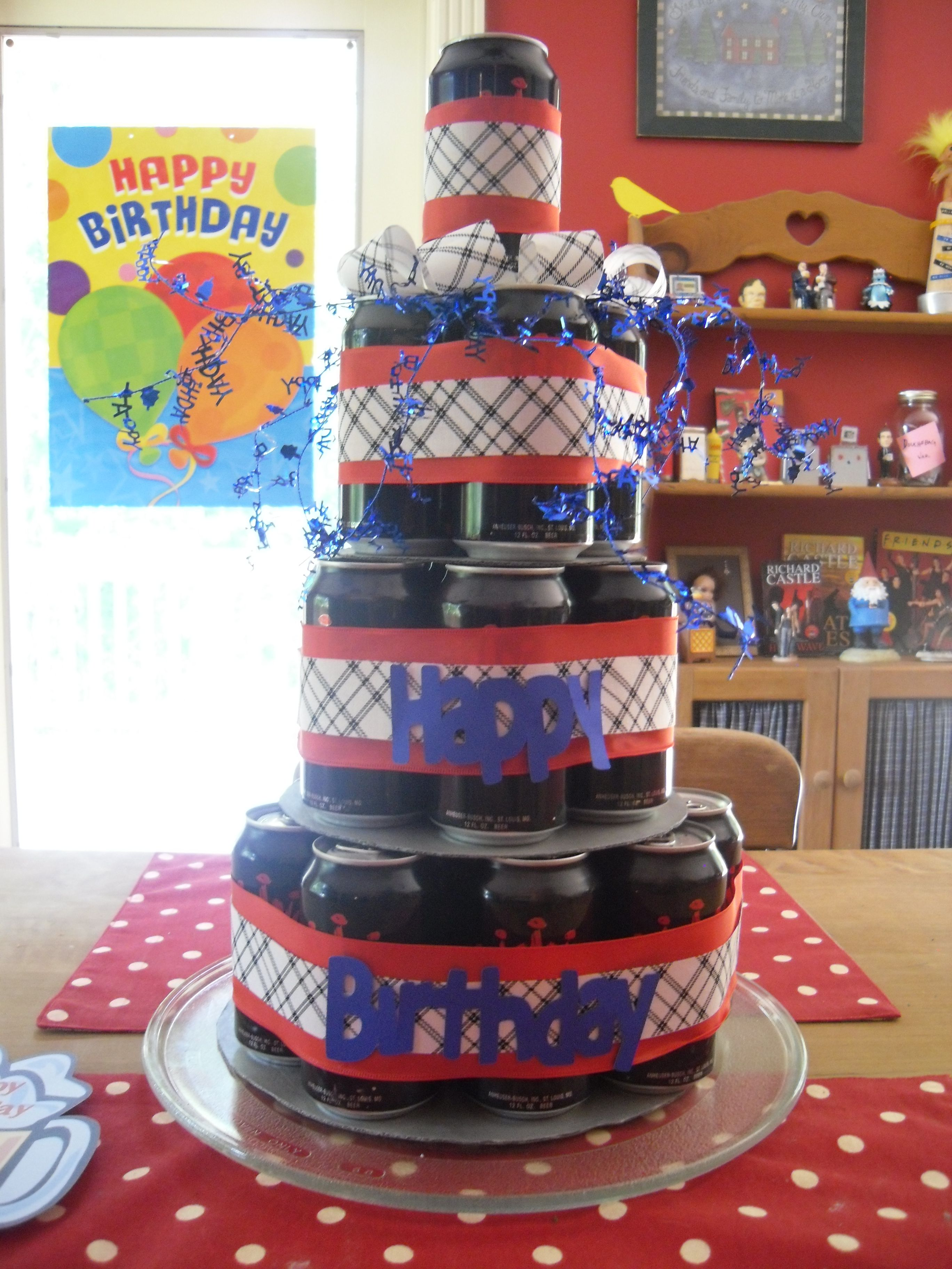 A beer can cake for my husband's birthday. | Birthdays ...