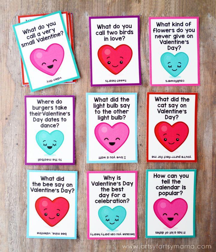 Free Printable Valentine Lunch Box Jokes Jokes, Boxes and Valentines