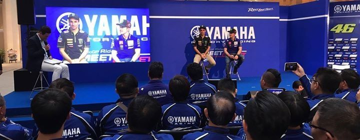 # 5 press conference with Yamaha factory pilot