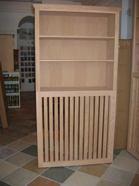 Traditinal Bookcase Above Bookcase Radiator Cover Furniture