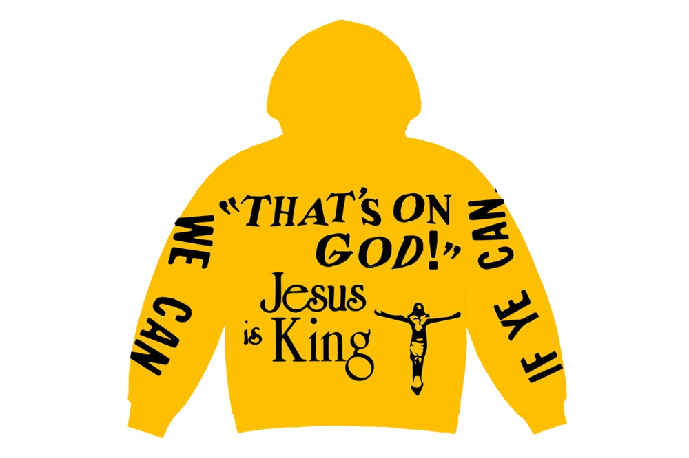Kanye West X Cpfm Jesus Is King Merch Release Hypebeast In 2020 Kanye Kanye West Yellow Hoodie