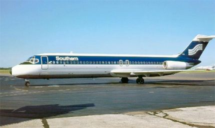 """Southern Airways Operated: 1949-1979 Cause & result of demise: Merged with North Central Airlines to become Republic Airlines.  Interesting fact: Southern Airways billed itself as the """"Route of the Aristocrats."""" and used the slogan """"Nobody's Second Class on Southern"""" in its television commercials. It was famous for its promotional shot glasses: for a time, a differently designed shot glass was issued each year. Original Southern shot glasses are valued by collectors of the airline's…"""