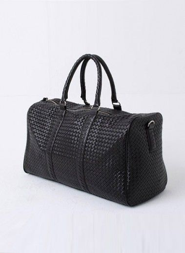 92c9243637e4 Mens Discount Bottega Veneta Woven Leather Boston Bag Duffle Gym bag  Weekender at Fabrixquare ( 59.00) - Svpply