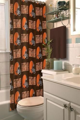 Kids Cleveland Browns Shower Curtain