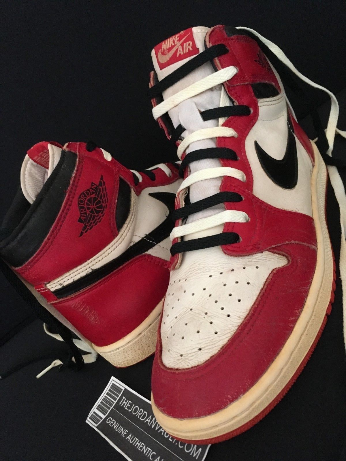 cheap for discount 75662 99ac7 1985 Nike Air Jordan 1 Original White Black Red Chicago sz. 12