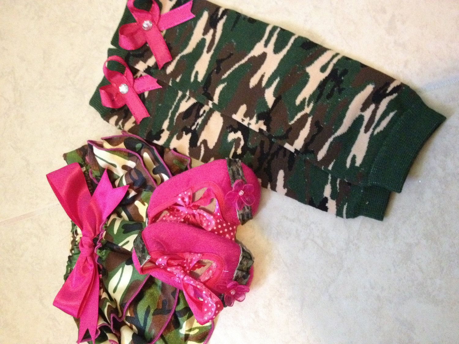camo infant clothing camo baby girl gift set by