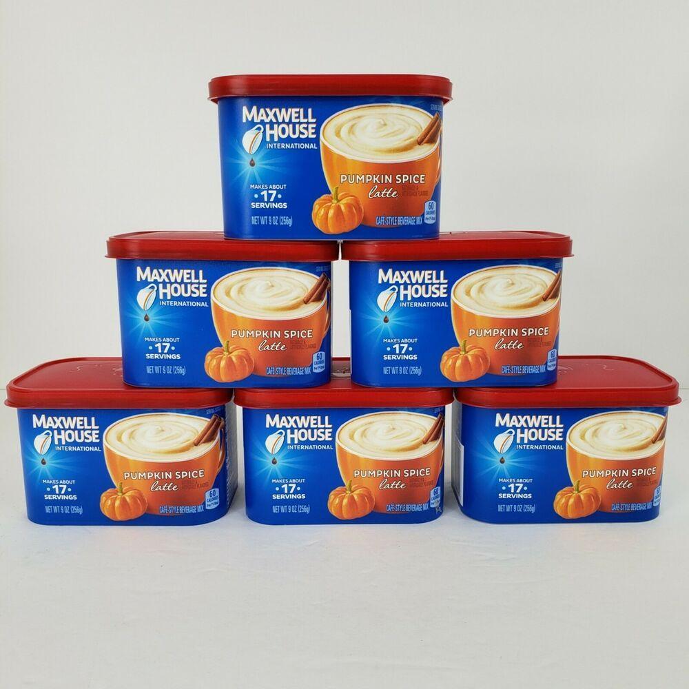 Details about 6 pumpkin spice latte maxwell house